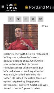 Chef Alfie Mossadeg | Palate Sensations | Sun Times Network Image