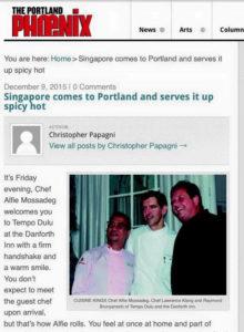 Chef Alfie Mossadeg   The Portland Phoenix   Palate Sensations