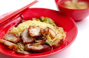 Chinese Char Siew Noodles & Roast Chicken