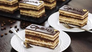 Chocolate And Coffee Opera Cake